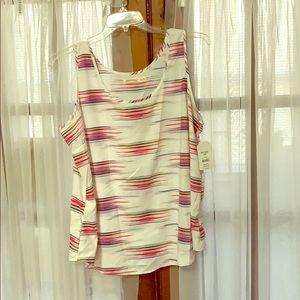 Cute sleeveless faded glory top size XXL